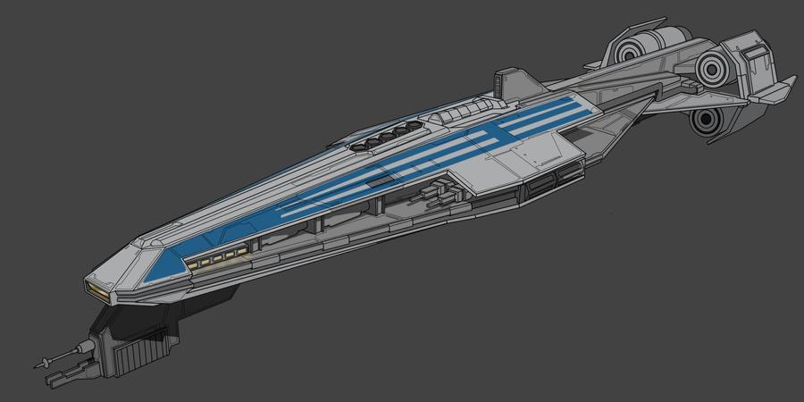 Star Wars CIS Frigate 2D by AdamKop