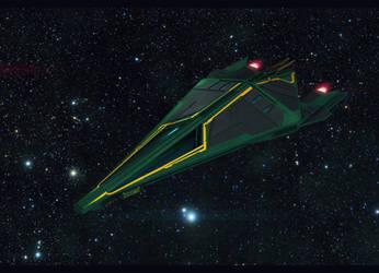 Sci-Fi Royal Spaceship by AdamKop