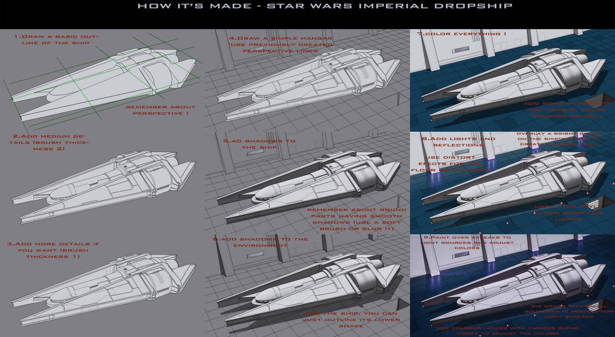 Star Wars Imperial Dropship Tutorial by AdamKop