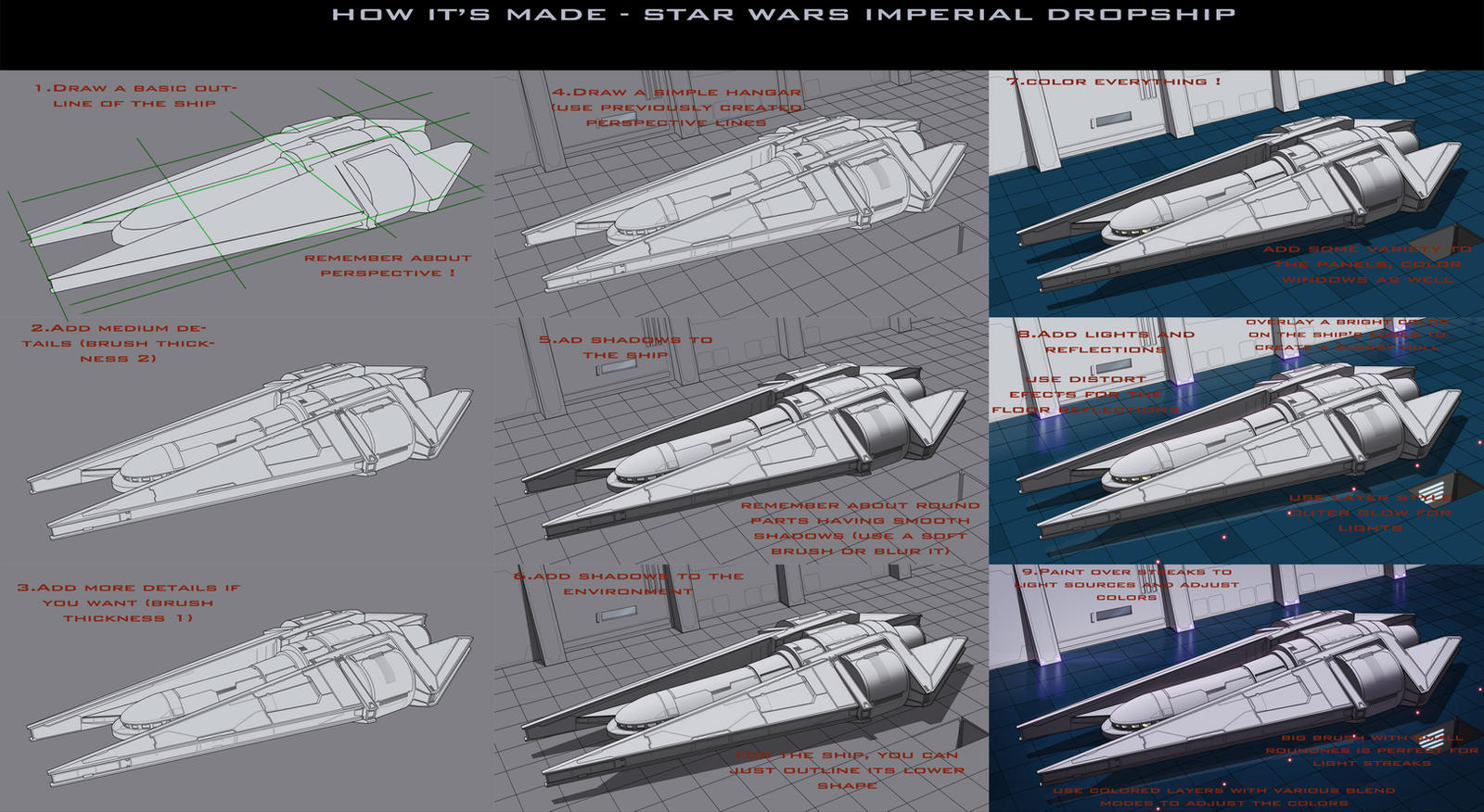 Star Wars Imperial Dropship Tutorial by AdamKop