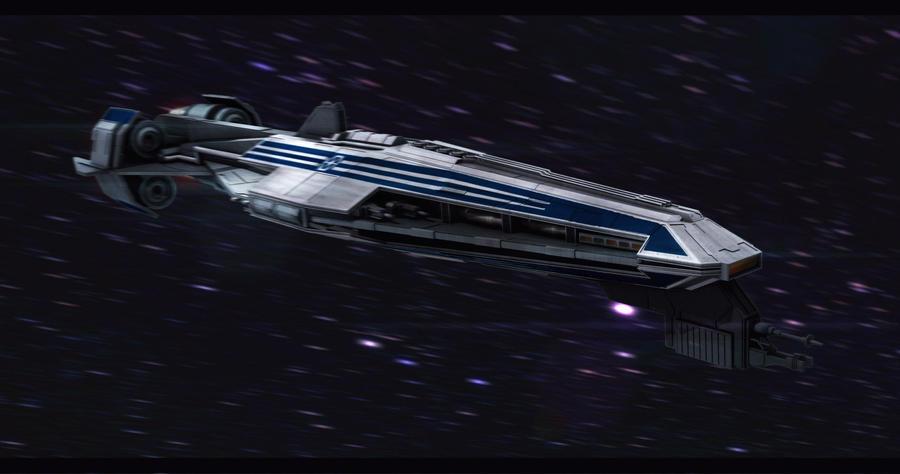 Star Wars CIS Frigate 3D by AdamKop