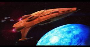 Star Wars Mon Calamari Gunboat 3D