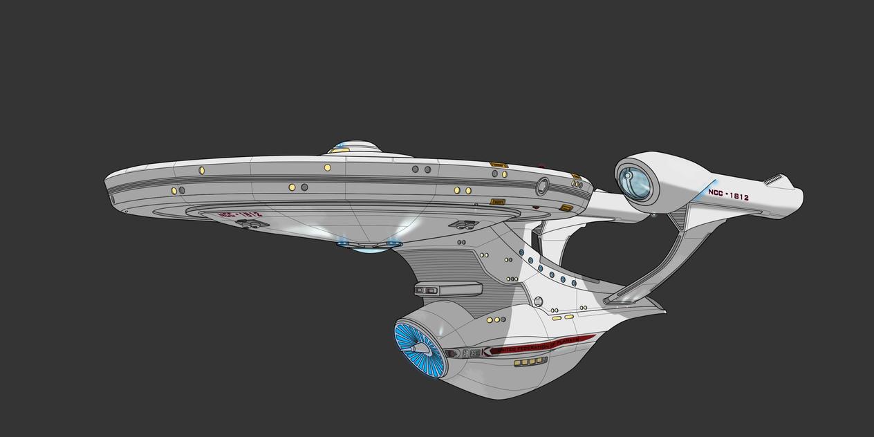 2D Star Trek Advocate Class 2D Commission by AdamKop
