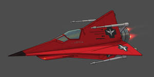 Star Wars Red Mist Fighter 2D Commission