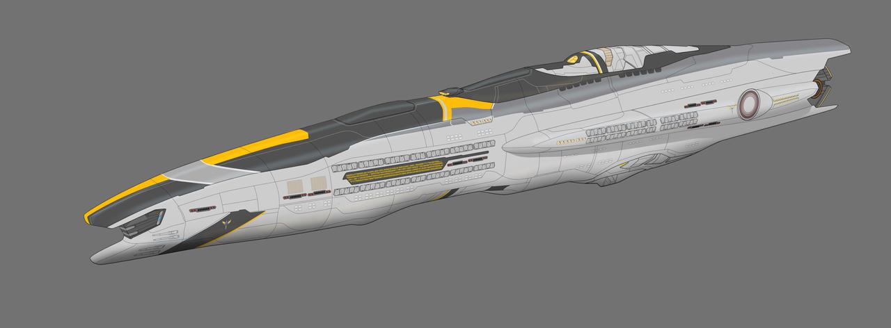 Chronicles of Man Atlantus Class ship by AdamKop