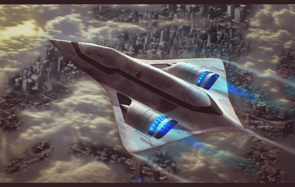 The galaxy's most wanted Sci_fi_dropship_over_city_by_adamkop-d5fufq6