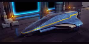 Star Wars Pantoran Jedi Starfighter 3D Commission