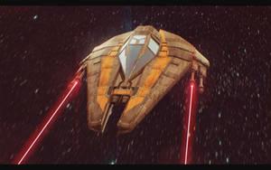 Star Wars Jedi Starfighter 3D by AdamKop