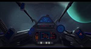 Star Wars Incom R10 Cockpit by AdamKop