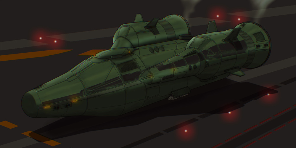 Sci-Fi 2D Ship Commission by AdamKop