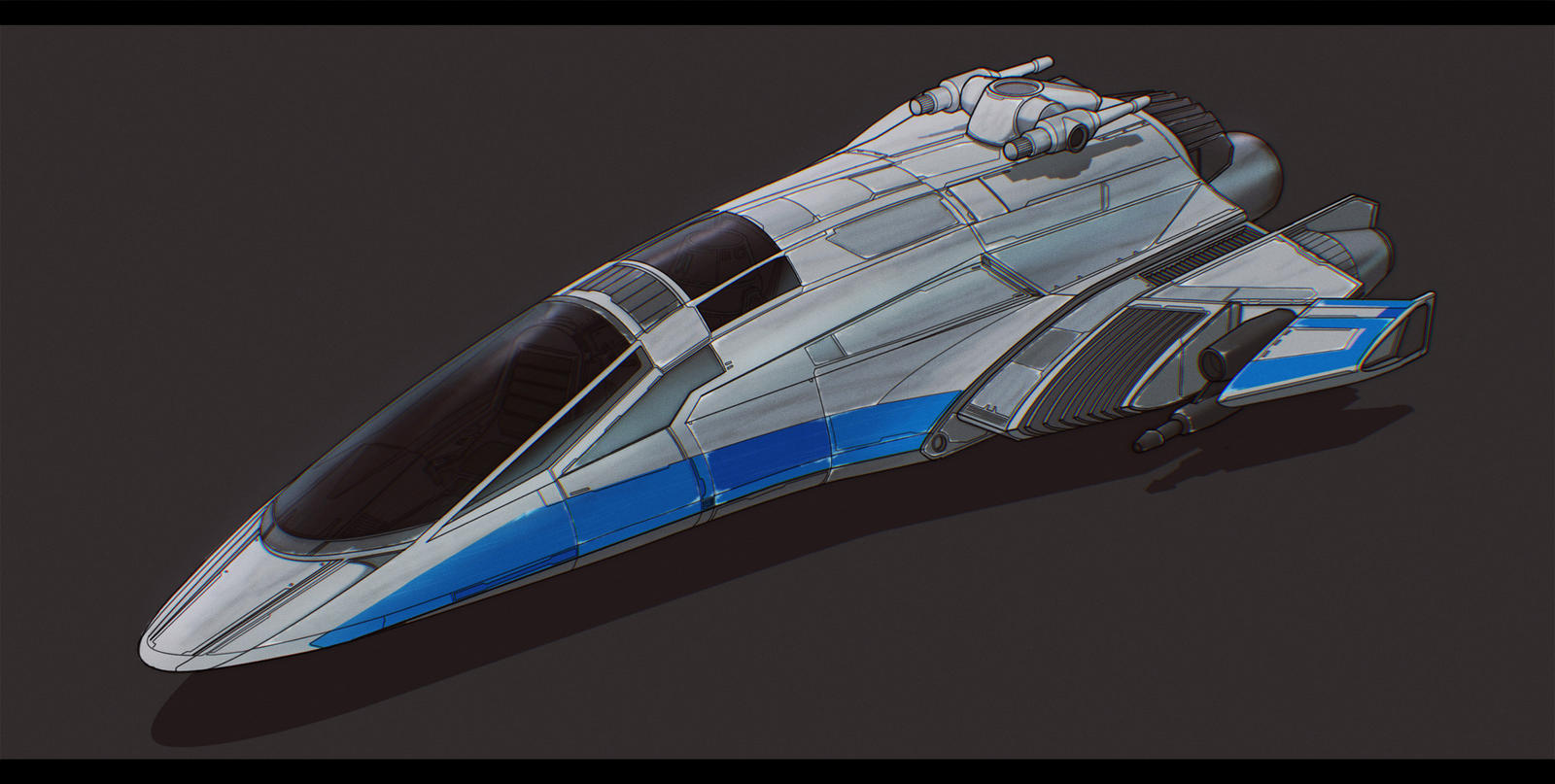 Star Wars Aayla Secura's Starfighter by AdamKop