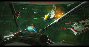 Star Wars Ison Corridor Battle by AdamKop