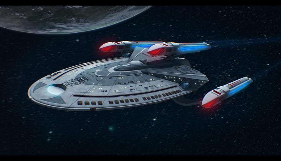 Star trek ship 3d commission by adamkop