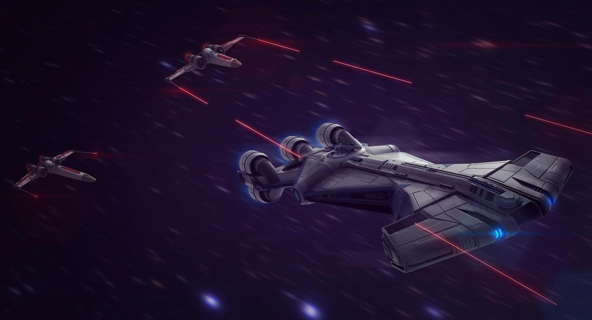 Star Wars Pursuit 3D Commission by AdamKop