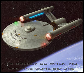 Star Trek TOS ship 3D Commission