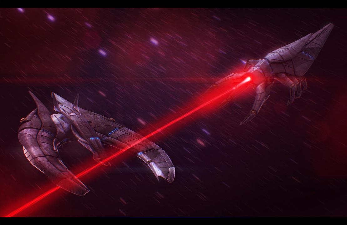 Mass Effect Reaper Battle Scene 3D Commission by AdamKop