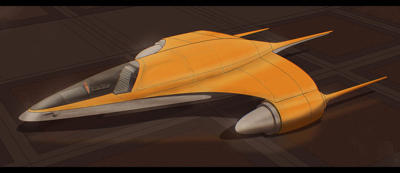 Star Wars Nubian Patrol Ship by AdamKop