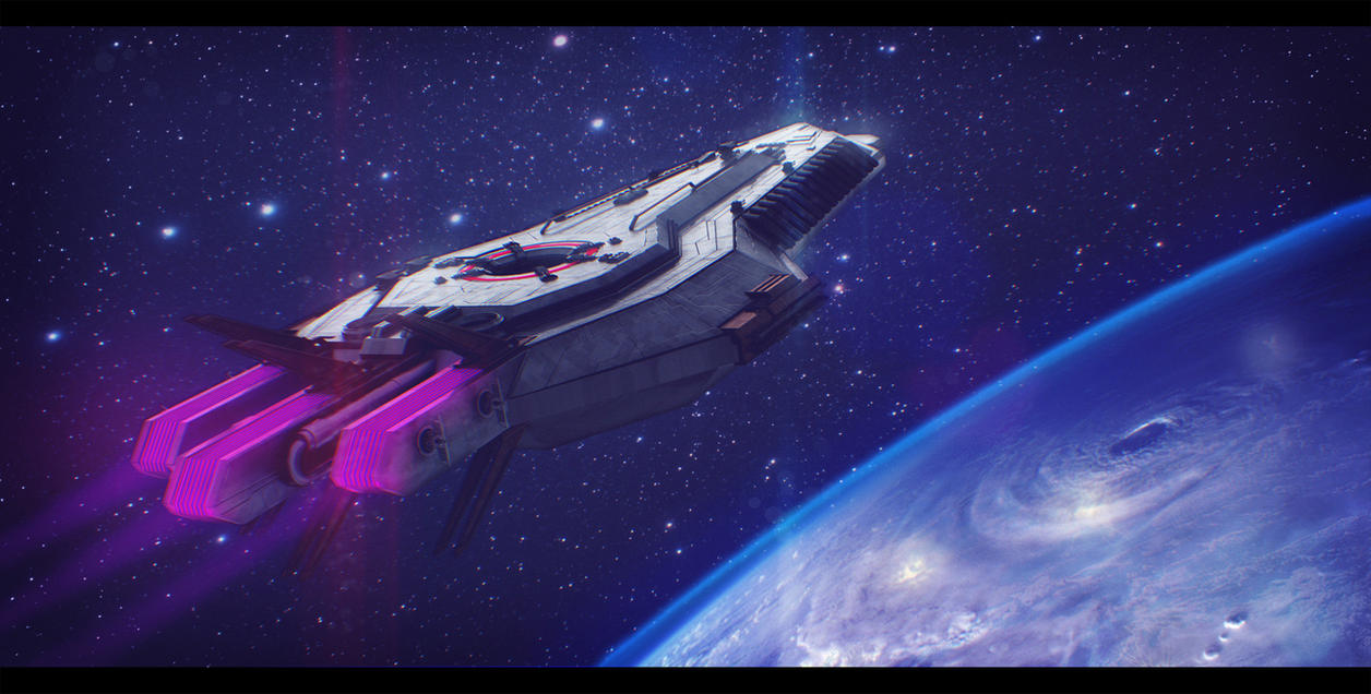 lazerus starship 3d commission by adamkop on deviantart