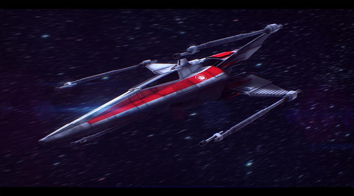 Star Wars Incom X-14 Twin Suns Commission by AdamKop