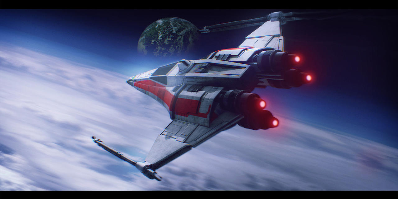 Star Wars Incom X-14 Twin Suns by AdamKop