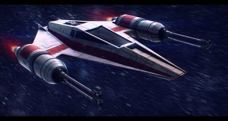 Star Wars Incom T-38 W-Wing by AdamKop