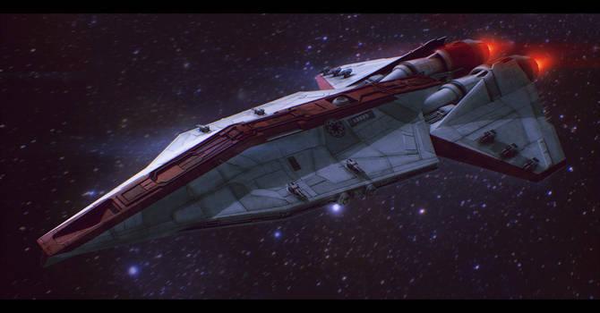 Star Wars Republic Corvette Commission by AdamKop
