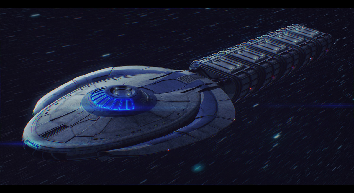 Spaceship Entigy Commission by AdamKop