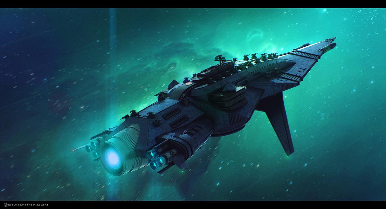 'Super Eikan' Heavy Cruiser by AdamKop