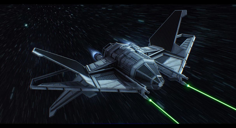Star Wars Crusader TIE Commission by AdamKop