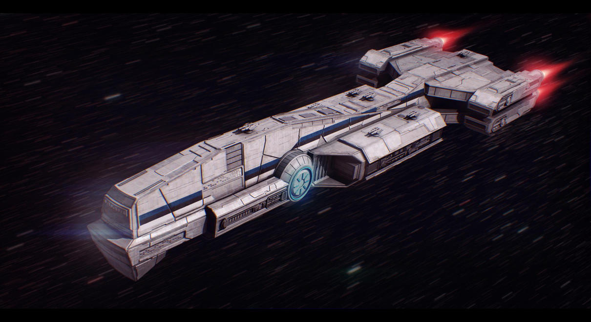 Star Wars Bounty Hunter Freighter Commission by AdamKop