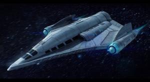 Sci-Fi Cargo Ship Commission