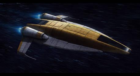 Star Wars Nubian Patrol Ship by AdamKop