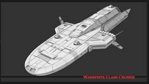 Traveller Warsprite-Class Cruiser Commission by AdamKop