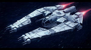 Star Wars VCX-820 escort freighter by AdamKop