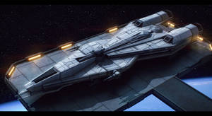 Star Wars Mandalorian Superlight Corvette by AdamKop