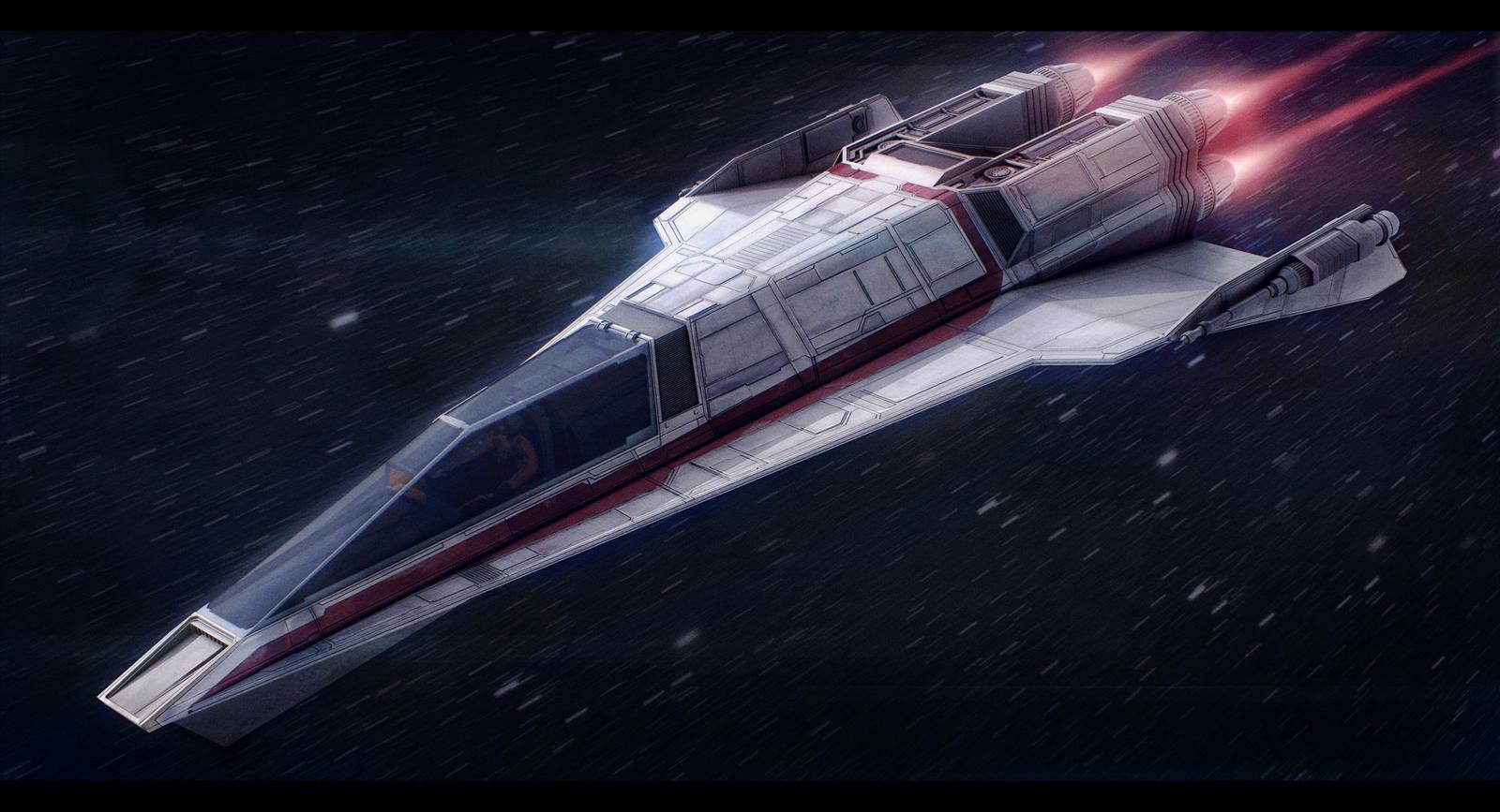 Star Wars Incom T-85 Fighter by AdamKop