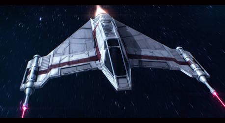 Star Wars Incom T-42 F-Wing by AdamKop