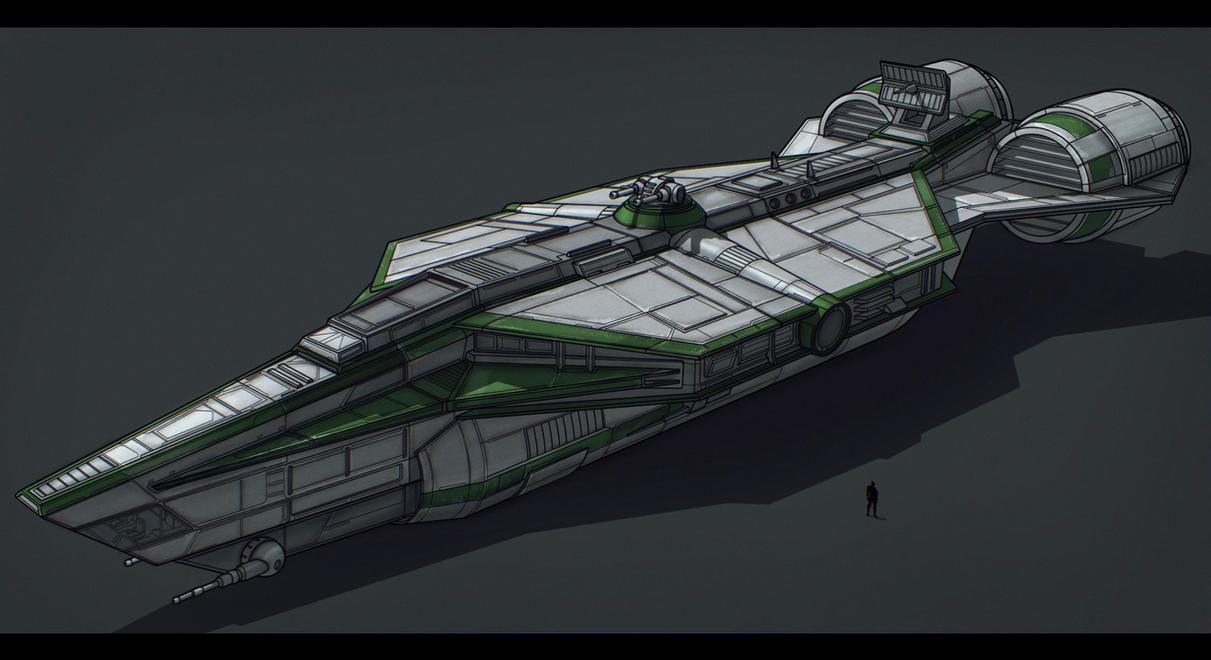 Star Wars Corellian YT Transport by AdamKop