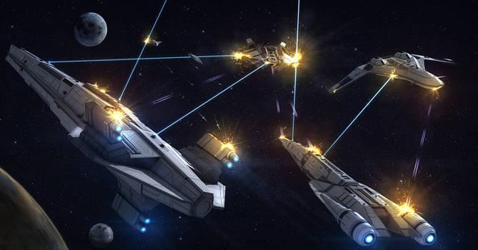 Sci-Fi Story Battle Scene