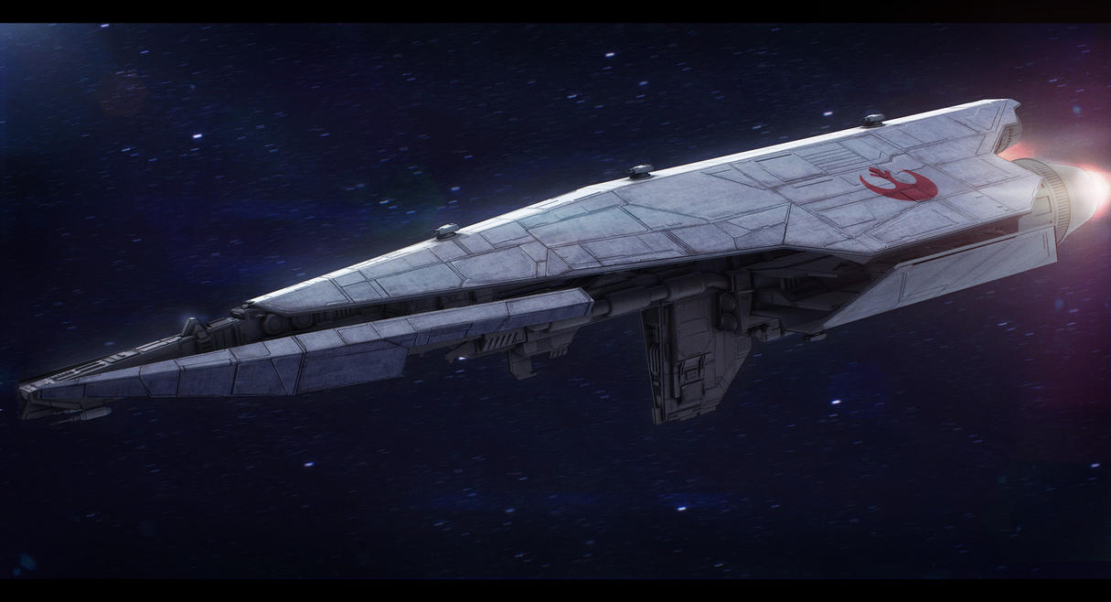 Star Wars Nebulon C Frigate (free model DLC) by AdamKop