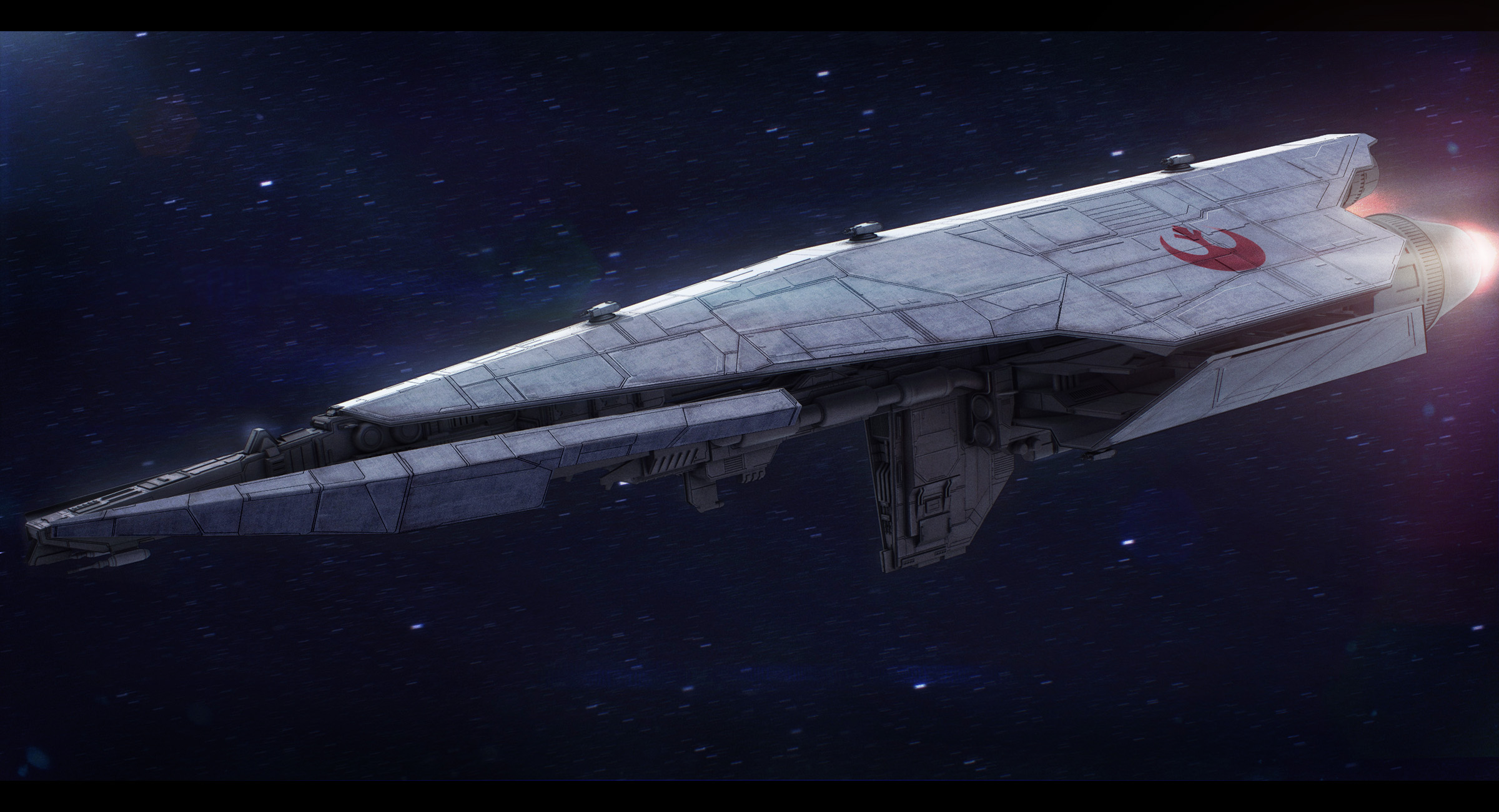 Star Wars Nebulon C Frigate (free model DLC)
