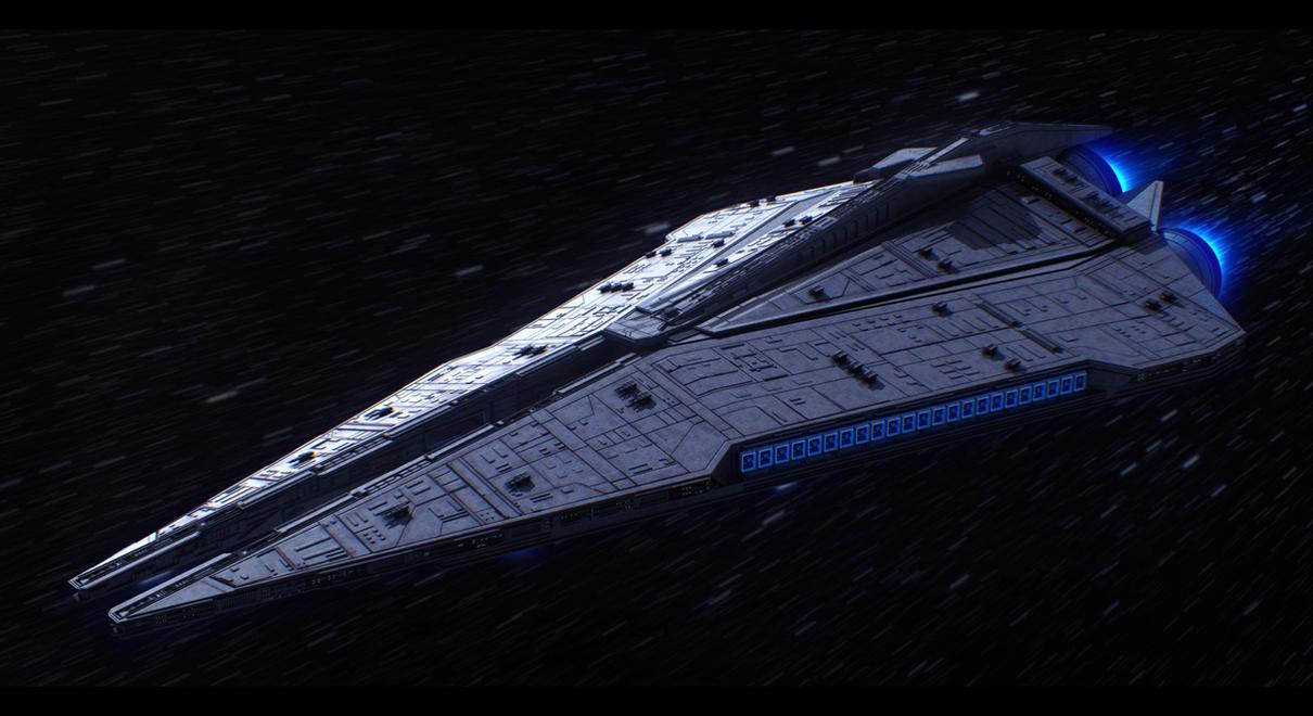 Imperial Star Destroyer by AdamKop