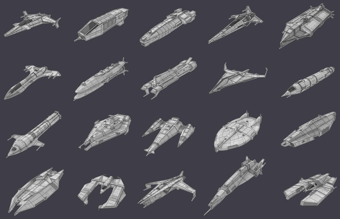 Game Ships Collection by AdamKop