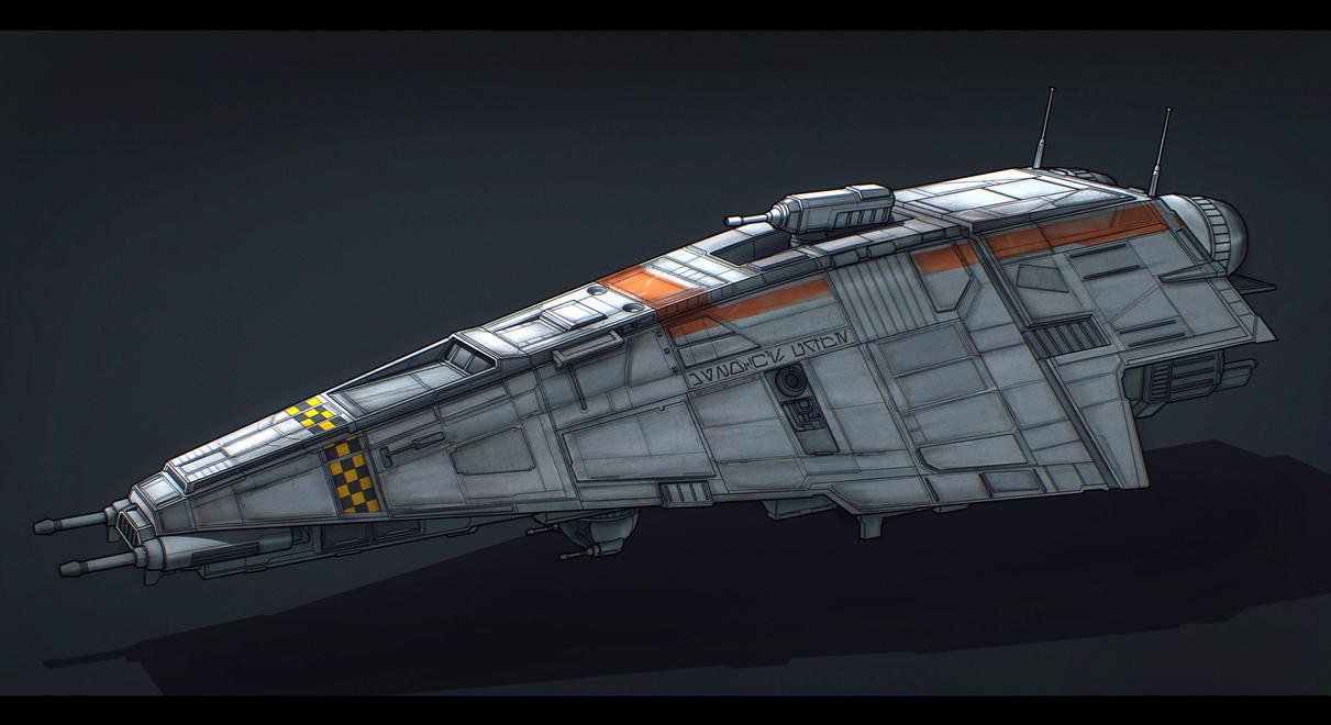 Star Wars Patrol Ship Commission by AdamKop
