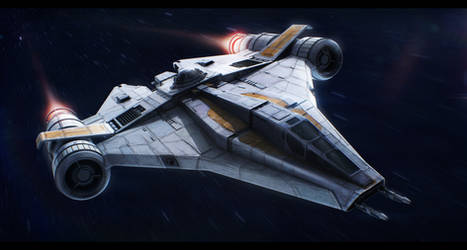 Star Wars Koensayr ETL-14 assault starfighter by AdamKop