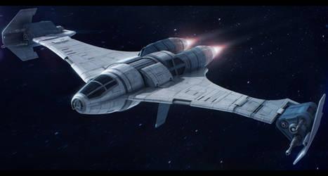 Star Wars Slayn and Korpil K-80 Swivel Starfighter by AdamKop