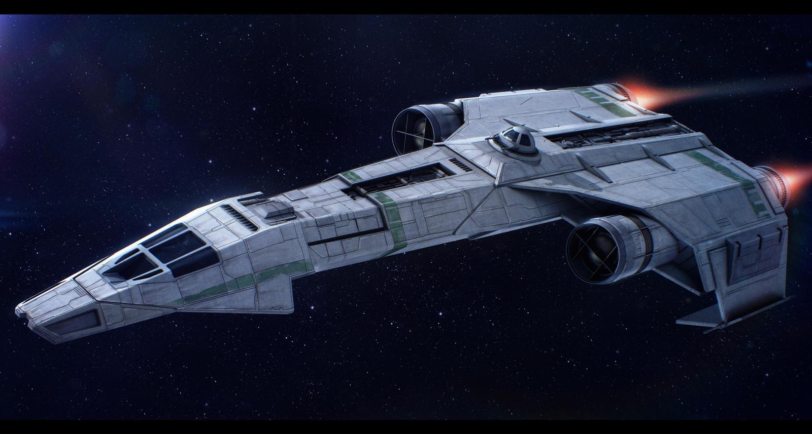 Star Wars IncomFrei Tek IFST 21 Light Freighter By