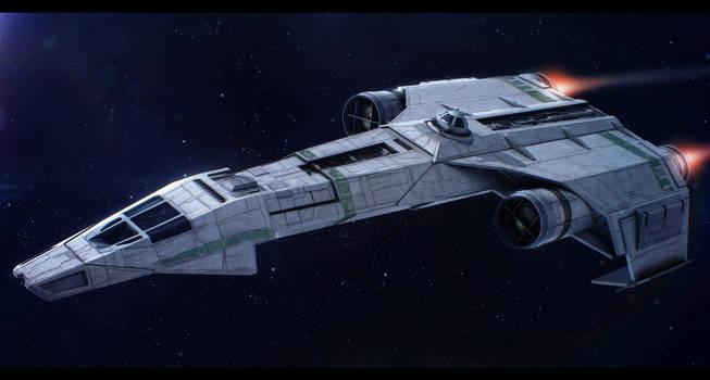 Star Wars Incom/Frei-Tek IFST-21 light freighter