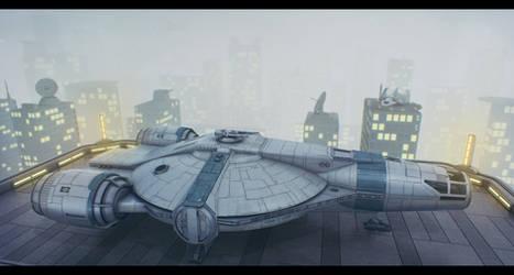 Star Wars : Horizon Evader on Corellia by AdamKop