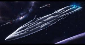 Star Wars Mon Calamari Shipyards MC70 by AdamKop